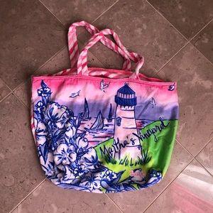Lilly P beach bag